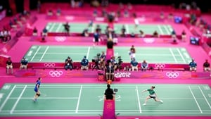 Chloe Magee from Donegal was defeated in her badminton match with Hongyan Pi