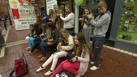 Busking in Dublin