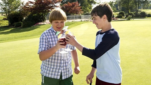 A scene from the movie adaptation of Wimpy Kid Dog Days