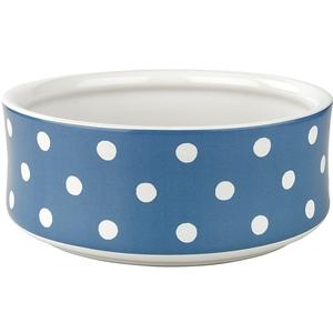 Blue spot stoneware dog bowl, €18, Cath Kidston