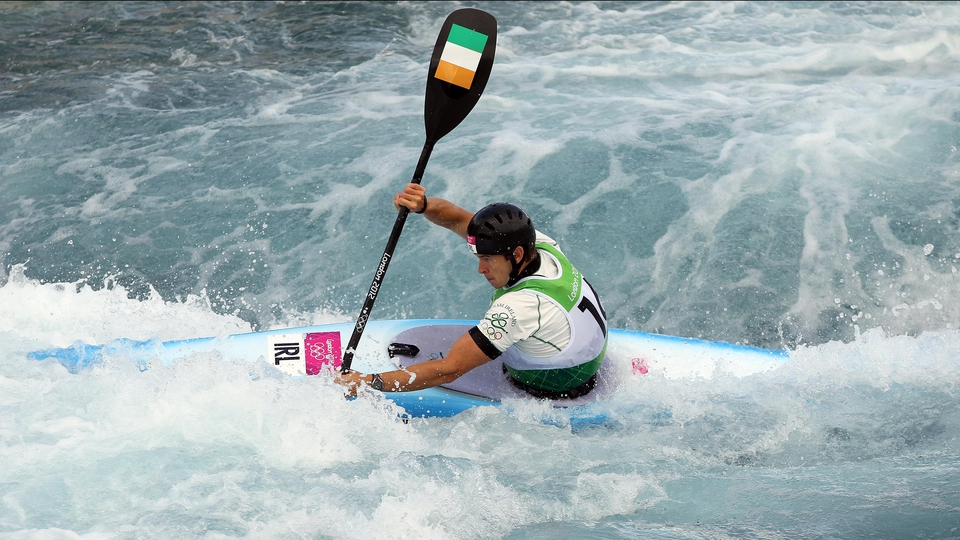 Day 2: Eoin Rheinisch reached the semi-finals of the Canoe Slalom