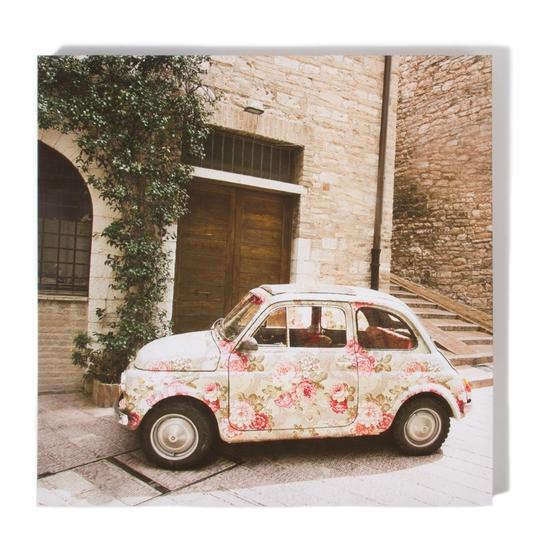 Flower car canvas, €10, Dunnes Stores