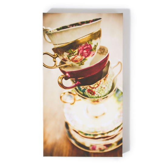 Teacup canvas, €5, Dunnes Stores