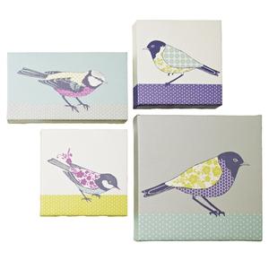 Ashley Thomas/Edition Multi Birds Canvas (set of four), €39, Debenhams