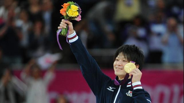 Kohei Uchimura won silver in Beijing but now has gold