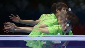 Ning Ding of China seen during her Women's Singles Table Tennis Gold Medal match
