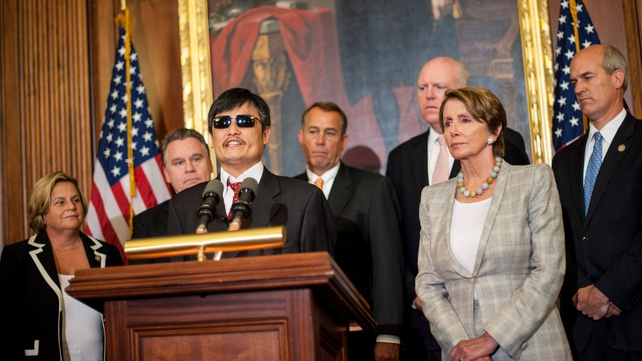 Chen Guangcheng said Beijing had not honoured guarantees made to him