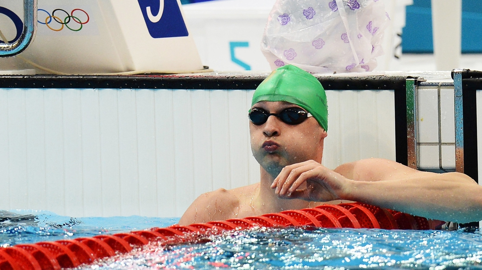 Day 6: Barry Murphy finished second in the fourth heat of the 50m freestyle and failed to make the semi-finals