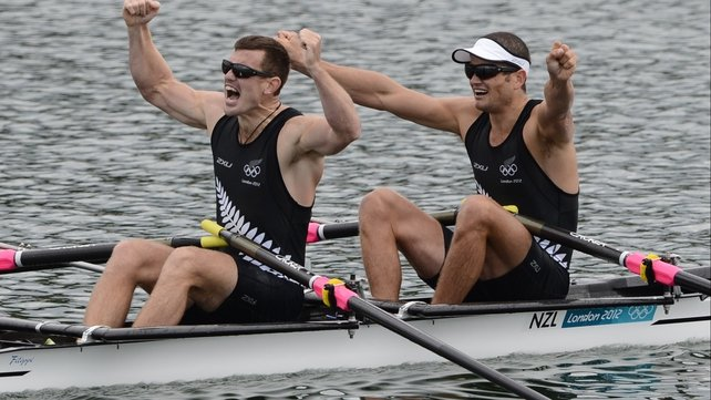 New Zealand's Nathan Cohen (R) and Joseph Sullivan claimed gold in style