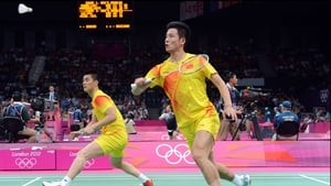 Cai Yu (r) and Fu Haifeng (l) won a doubles game against Chinese compatriots