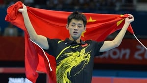 Zhang Jike has taken gold in men's singles table tennis