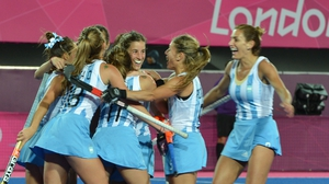 Argentina celebrate en route to defeating New Zealand
