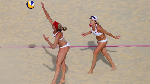 USA's April Ross and Jennifer Kessy needed three sets to get past Spain
