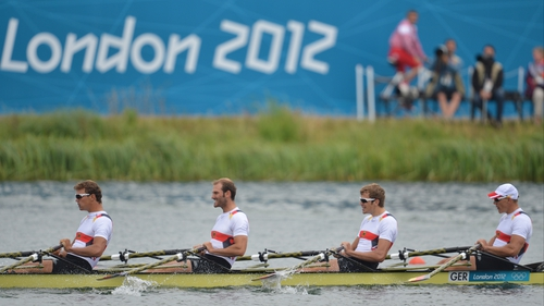 Germany took the top prize in the men's quadruple sculls gold
