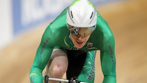 Martyn Irvine will race in the Individual Pursuit and the Scratch Race