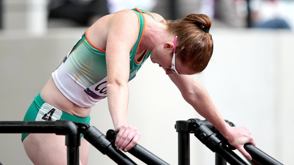 Joanne Cuddihy was initially disappointed but her fourth place finish was enough to secure a 400m quarter final place