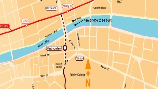 Proposed Luas link up map