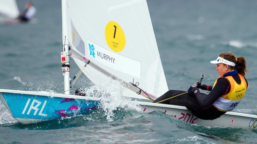 Annalise Murphy is in the silver medal position of the Laser Radial class at London 2012