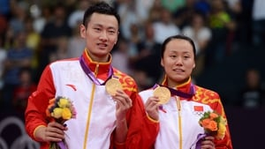 Zhang Nan and Zhao Yunlei (right) add to China's already impressive gold medal tally