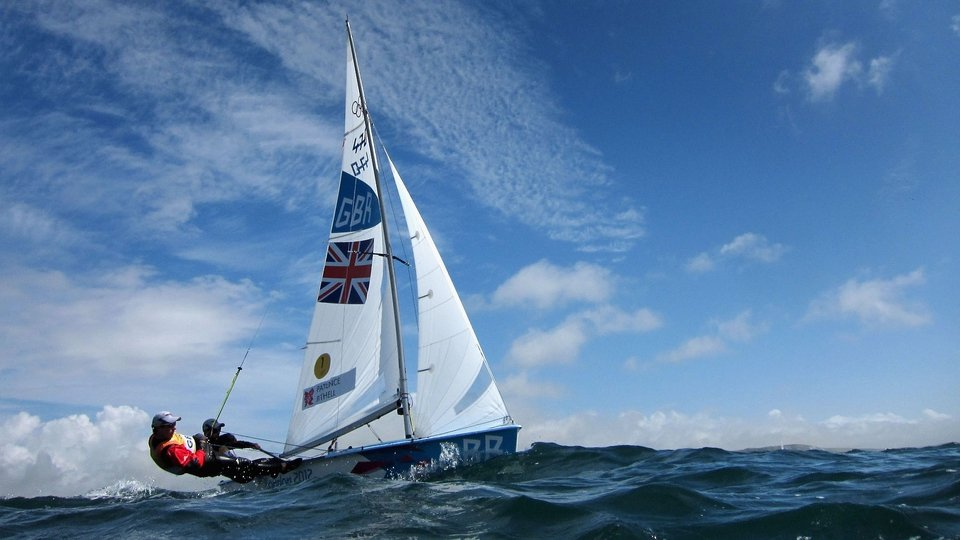 A shot from the Men's 470 Sailing on Day 7 of the London Games