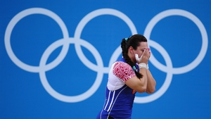 Nadezda Evstyukhina had to settle for silver in the women's weightlifting final