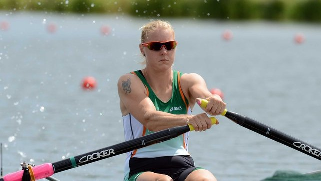 Sanita Puspure was pipped on the line for the silver medal