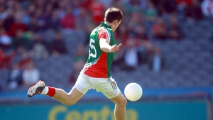 Jason Doherty scores the first goal of the game against Down at Croke Park