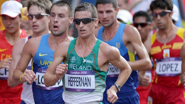 Rob Heffernan has finished fourth in the 50km walk