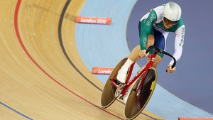 Martyn Irvine at the velodrome on day one of the Omnium