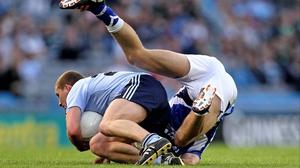 Dublin's Ciarán Kilkenny upends Colm Begley