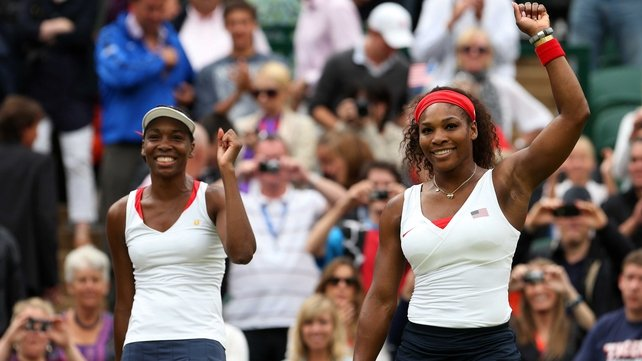 Venus and Serena Williams beat their Czech opponents 6-4 6-4 at Wimbledon this afternoon