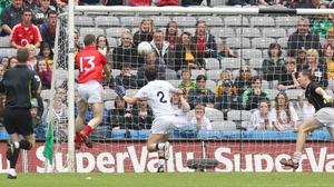 Colm O'Neill scores Cork's second goal