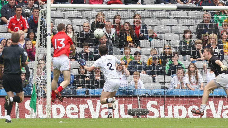 Colm O'Neill scores Cork's second goal