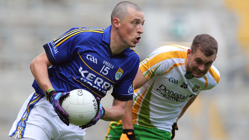 Kerry's Kieran Donaghy is tracked by Donegal's Eamon McGee