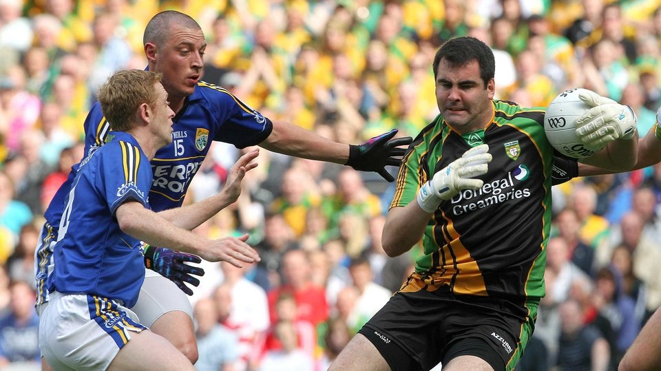 Donegal goalkeeper Paul Durcan has Kieran Donaghy and Colm Cooper for company