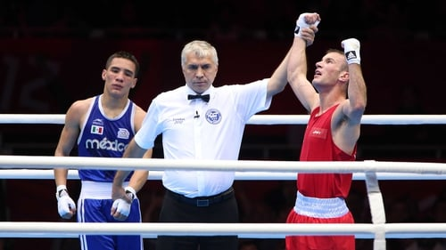 John Joe Nevin is guaranteed a medal after his victory on Sunday