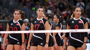 The Turkey volleyball team bowed out of the Games at the hands of the United States