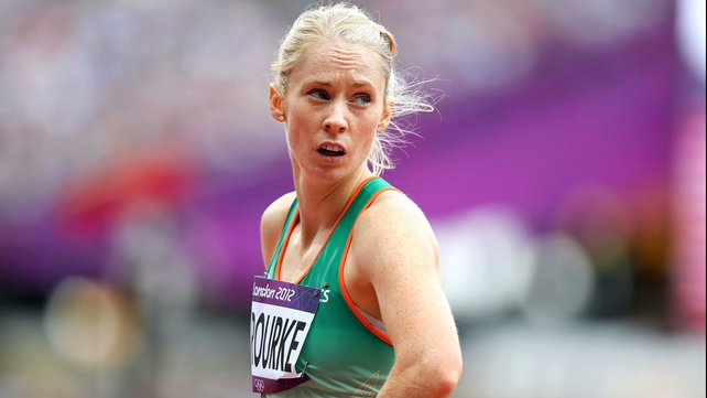 Derval O'Rourke lined up for the 100m Hurdles at the Woodies DIY National League final