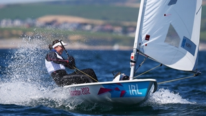 Ireland's Annalise Murphy just missed out on a medal, finishing fourth in the Laser Radial event