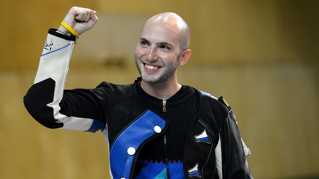 Niccolo Campriani took the gold in the men's 50-metre rifle three positions
