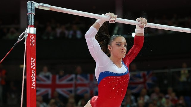 Aliya Mustafina claimed a shock gold medal in the gymnastics apparatus finals