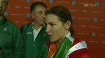 The Bray boxer speaks about her delight at winning her first bout at the Olympics and the atmosphere inside the ExCel Arena in London