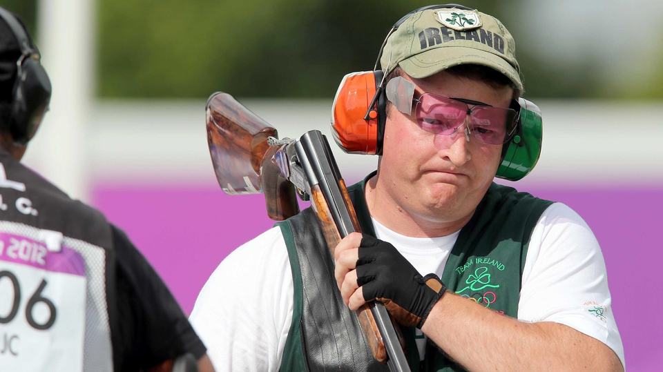 Day 10: Derek Burnett came 27th in the the men's trap