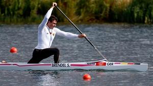 Sebastian Brendel of Germany competes in the Men's Canoe Single