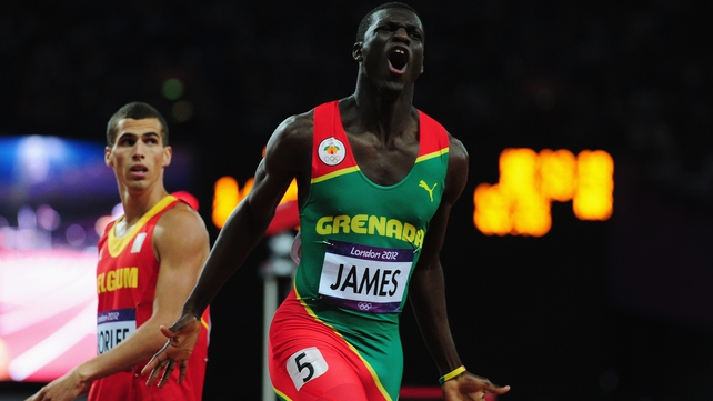 Kirani James claimed a hugely impressive victory in the 400m