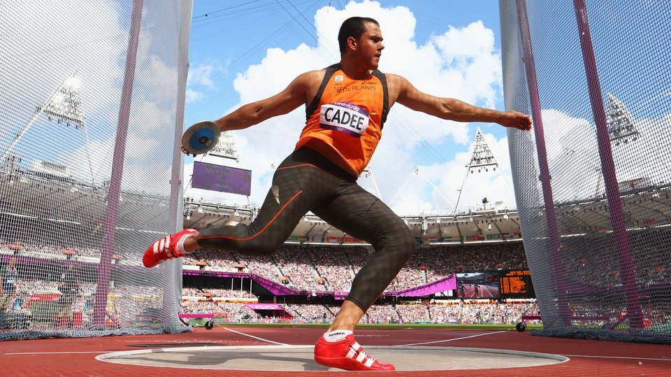 Erik Cadee of Netherlands competing in the discus event