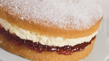 The classic simple sponge cake