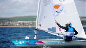 Pavlos Kontides took silver in the single-handed Laser class