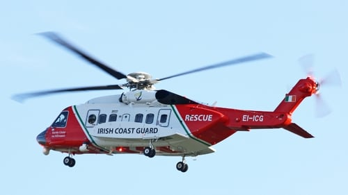 The coast guard helicopter was involved in the search