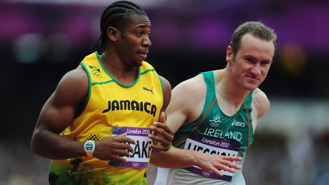 Hession tried in vain to keep up with Yohan Blake